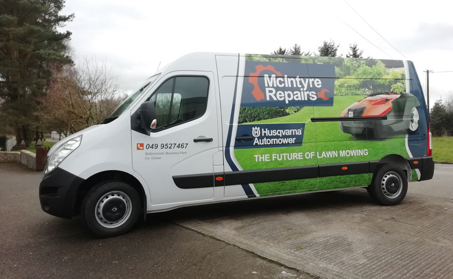 half van wrap design westmeath