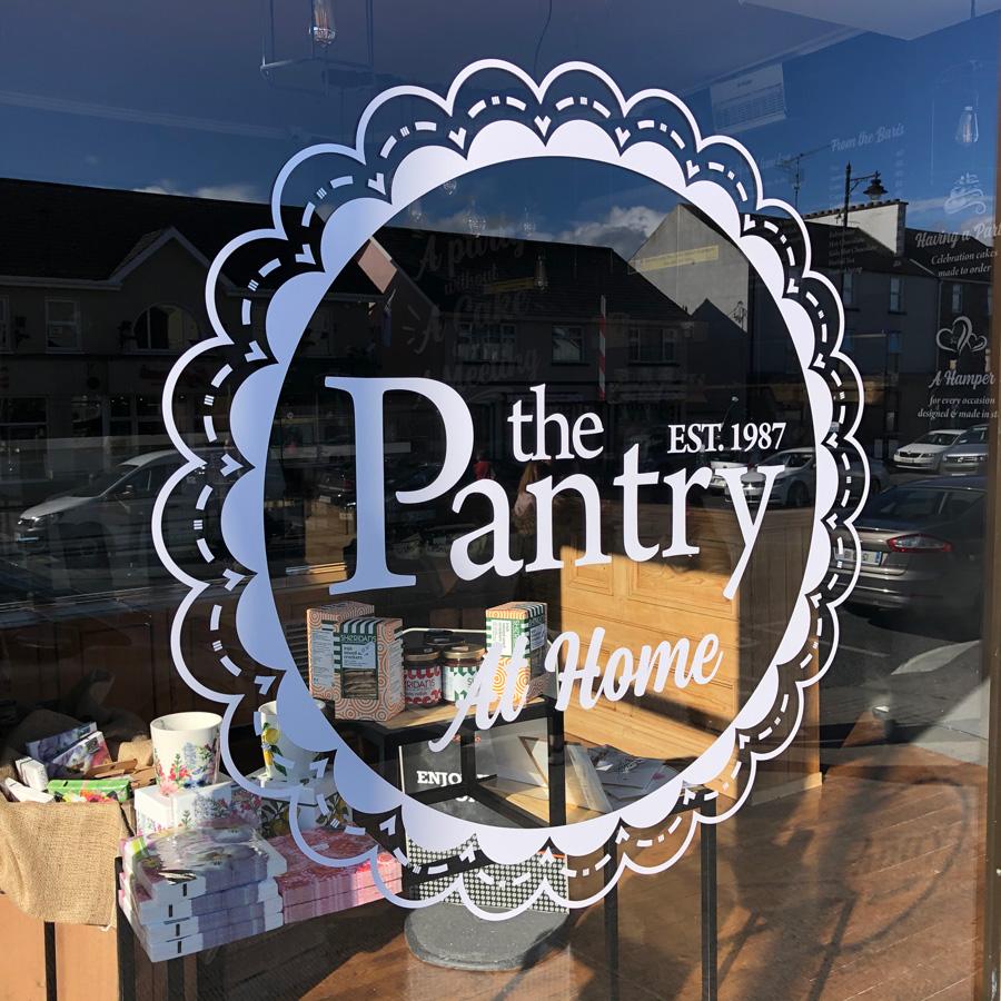 white cafe window graphics